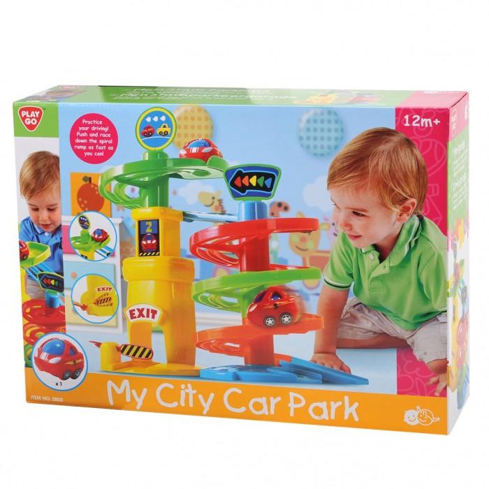 Playgo ของเล่นเสริมพัฒนาการ ที่จอดรถรางวน (PG-2802)