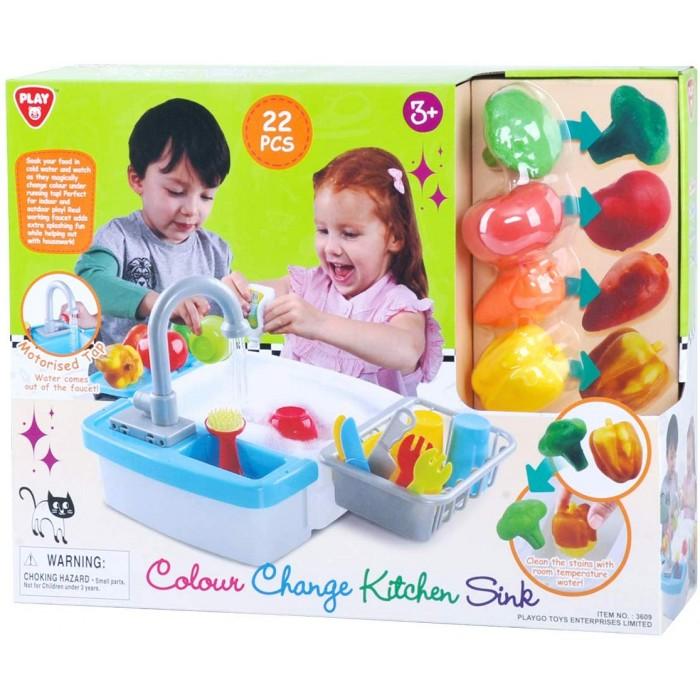 Playgo ของเล่นเสริมพัฒนาการ ซิงค์ล้างจานน้ำไหลผลไม้เปลี่ยนสี (PG-3609)