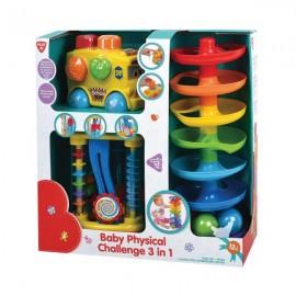 Playgo ของเล่นเสริมพัฒนาการ ชุดคอมโบเซ็ตฝึกพัฒนาการเด็ก 3 อิน 1 (PG-97066)