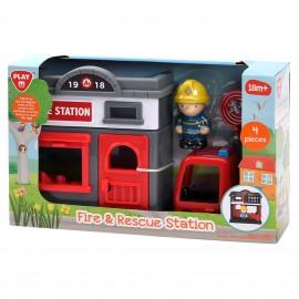 Playgo ของเล่นพัฒนาการ สถานีดับเพลิงและกู้ภัย(PG-9822)