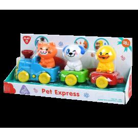 Playgo ของเล่นเสริมพัฒนาการ ขบวนรถไฟสัตว์น้อย (PG-2815)