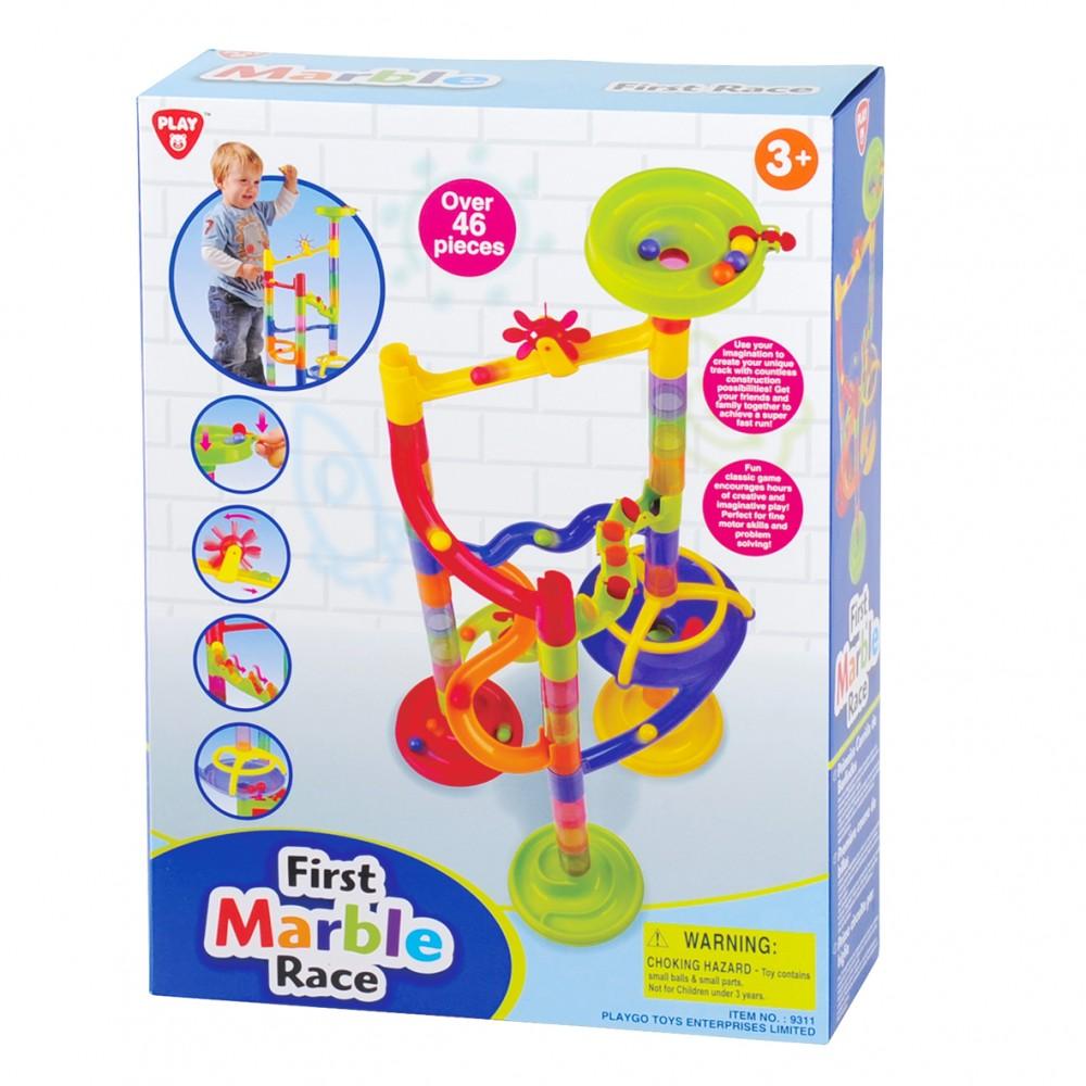 Playgo ของเล่นพัฒนาการ ตัวต่อรางลูกแก้วเซ็ตเล็ก 46 ชิ้น(PG-9311)