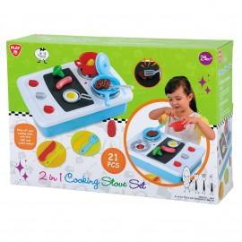 Playgo ของเล่นพัฒนาการ เซ็ตเตาทำอาหาร 2 in 1(PG-3605)