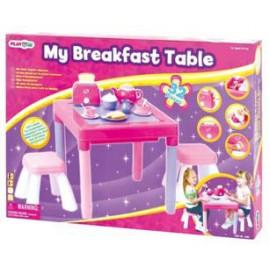 Playgo ของเล่นเสริมพัฒนาการ ชุดโต๊ะอาหาร+เก้าอี้ สีชมพู (PG-3135G)