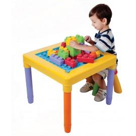 Playgo ของเล่นเสริมพัฒนาการ โต๊ะเก้าอี้พร้อมตัวต่อบล๊อก (PG-2245)